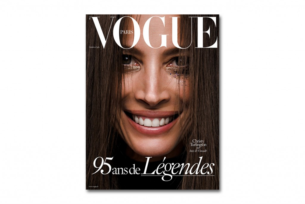 Christy Turlington on the cover of Vogue Paris Oct. issue